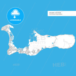 Map of Grand Cayman - HEBSTREITS