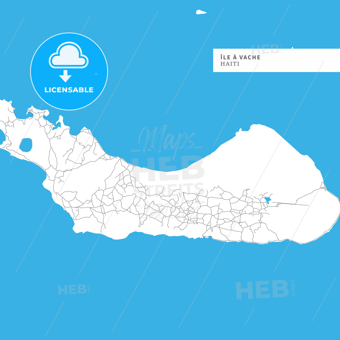 Map of Ile a Vache Island - HEBSTREITS