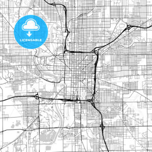 Map of Indianapolis, Indiana - HEBSTREITS