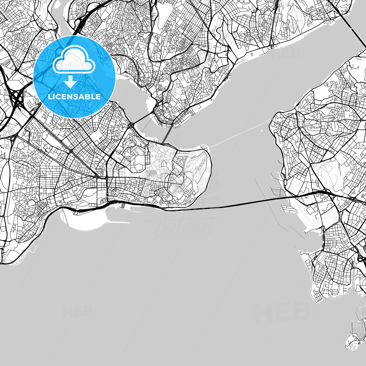Map of Istanbul, Turkey - HEBSTREITS