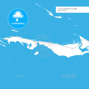 Map of Little Abaco Island Island - HEBSTREITS