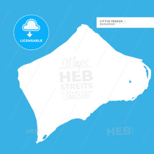 Map of Little Inagua Island - HEBSTREITS