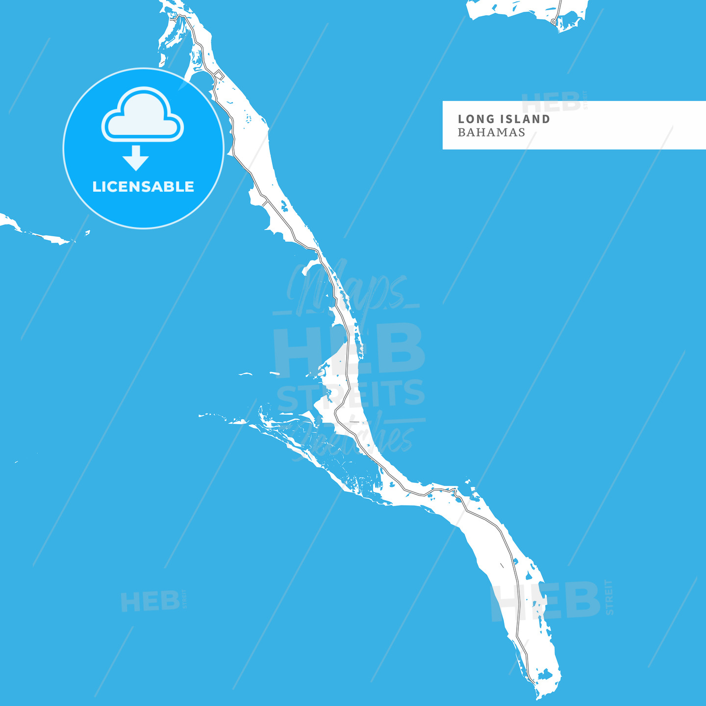 Map of Long Island - HEBSTREITS