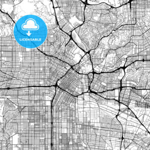 Map of Los Angeles, California - HEBSTREITS