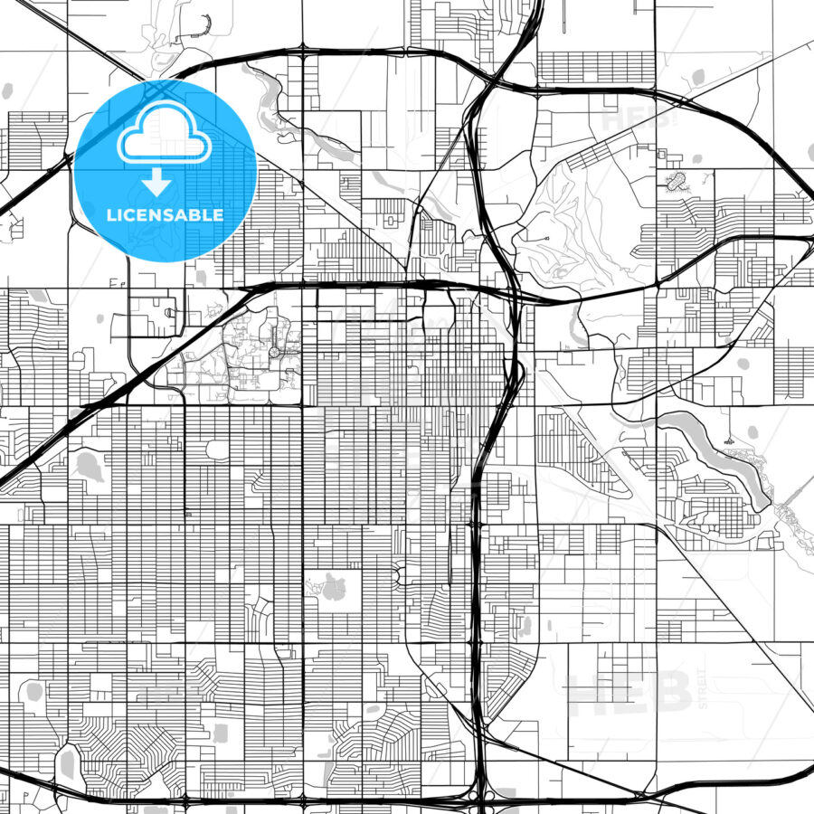 Map of Lubbock, Texas - HEBSTREITS