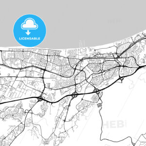 Map of Muscat, Oman - HEBSTREITS