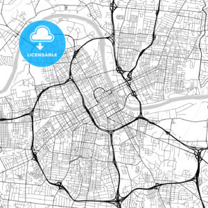 Map of Nashville, Tennessee - HEBSTREITS