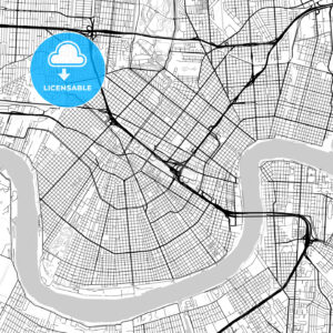 Map of New Orleans, Louisiana - HEBSTREITS