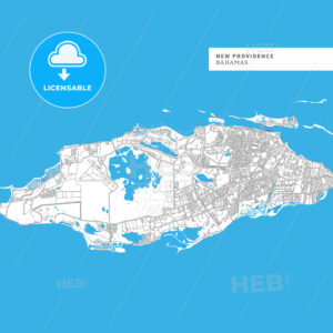 Map of New Providence Island - HEBSTREITS
