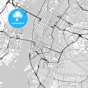 Map of New York City, New York - HEBSTREITS