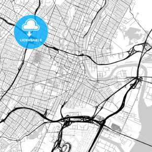 Map of Newark, New Jersey - HEBSTREITS