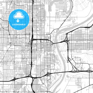 Map of Omaha, Nebraska - HEBSTREITS