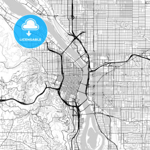 Map of Portland, Oregon - HEBSTREITS
