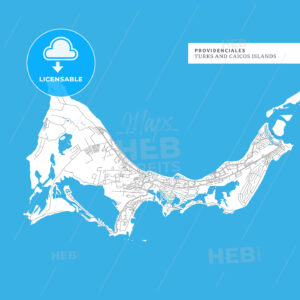 Map of Providenciales Island - HEBSTREITS