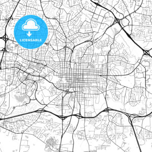 Map of Raleigh, North Carolina - HEBSTREITS