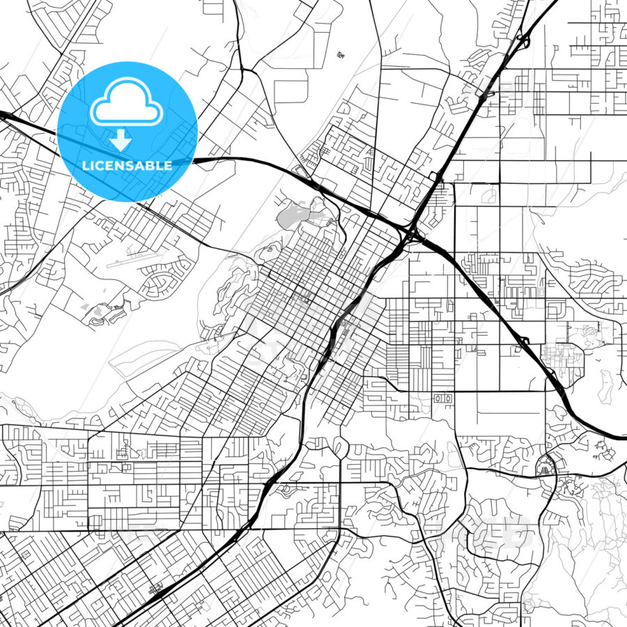 Map of Riverside, California | HEBSTREITS Sketches