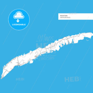 Map of Roatan Island - HEBSTREITS