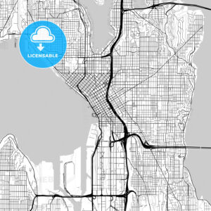 Map of Seattle, Washington - HEBSTREITS