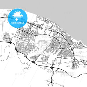 Map of Seeb, Muscat, Oman - HEBSTREITS
