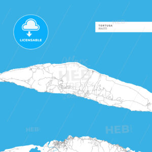 Map of Tortuga Island - HEBSTREITS
