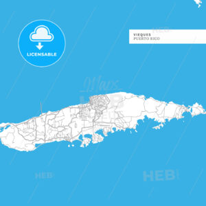 Map of Vieques Island - HEBSTREITS