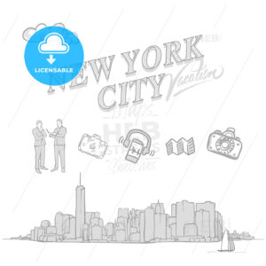 New York City travel sketches - HEBSTREITS