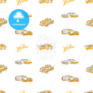 Old cars seamless pattern - HEBSTREITS
