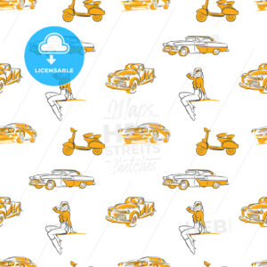 Old transportation signs seamless pattern - HEBSTREITS