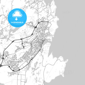 St. John's , Newfoundland and Labrador, Downtown City Map, Light - HEBSTREITS