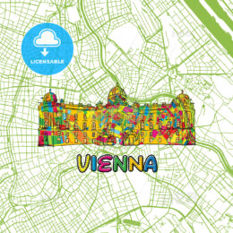 Vienna Travel Art Map