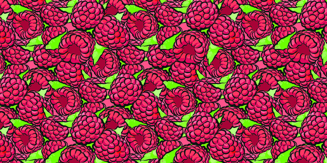 Pattern of Raspberries