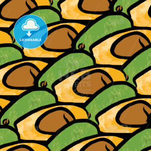 seamless pattern of avocados - HEBSTREITS