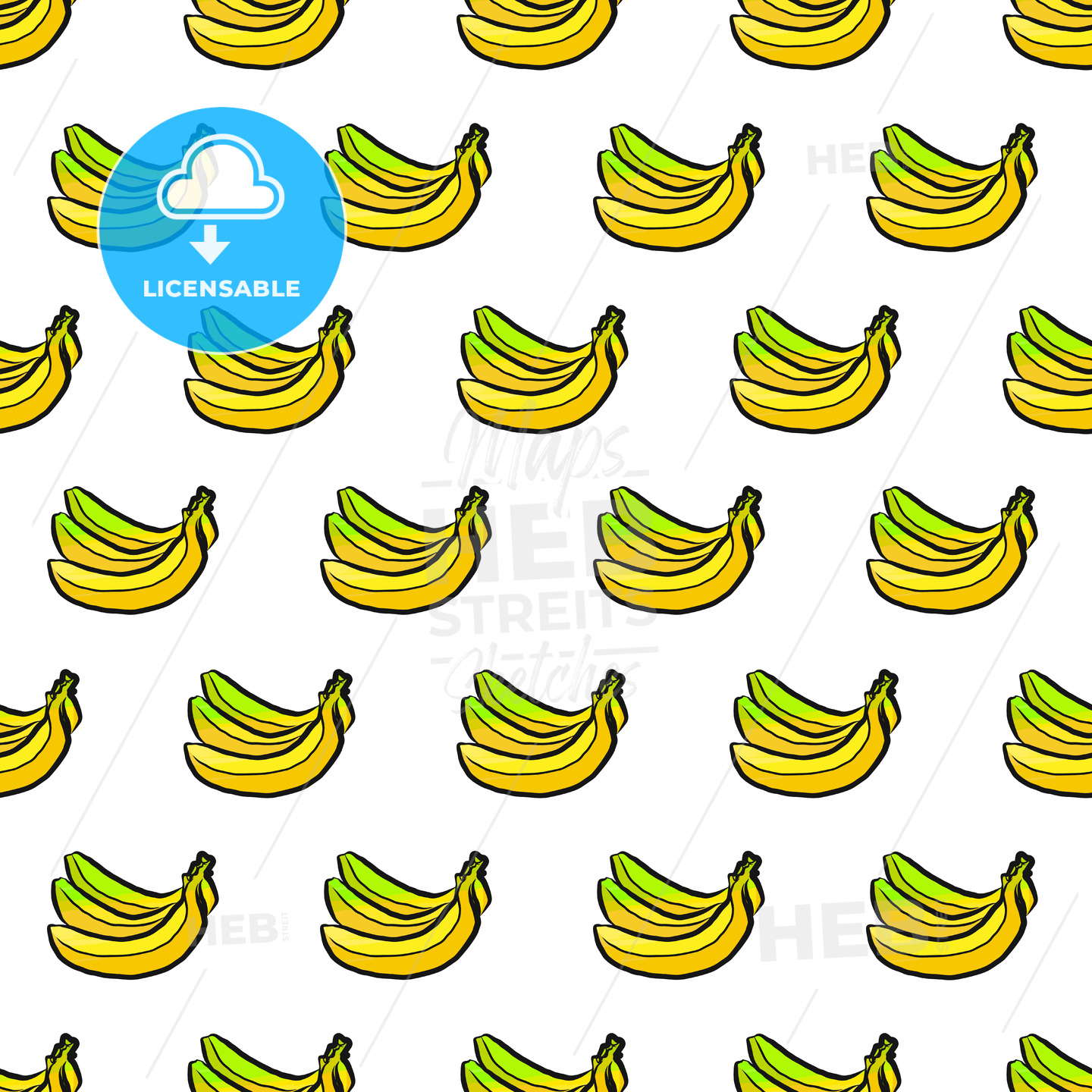 seamless pattern of bananas - HEBSTREITS