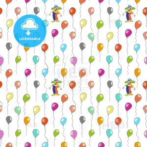 seamless pattern of clown and balloons - HEBSTREITS