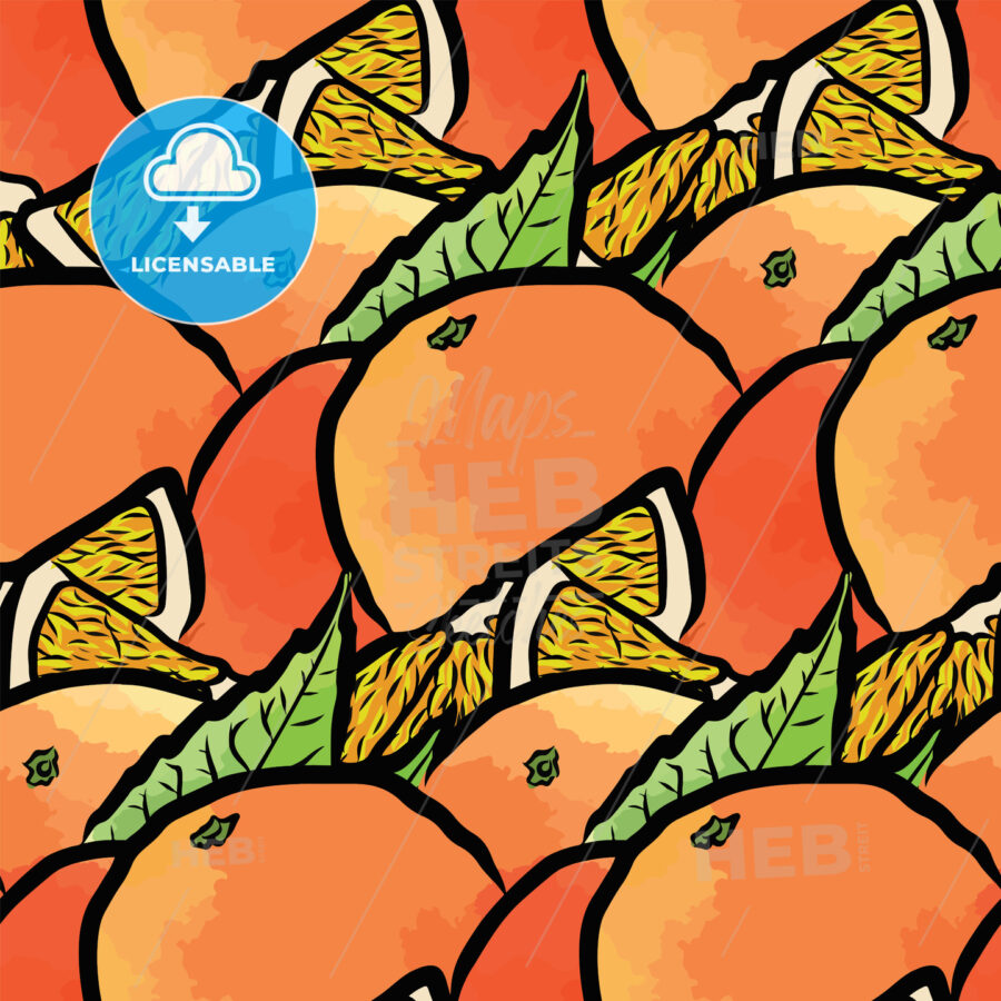 seamless pattern of fresh oranges - HEBSTREITS