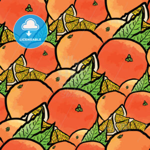 seamless pattern of oranges - HEBSTREITS