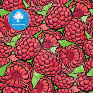 seamless pattern of raspberries - HEBSTREITS