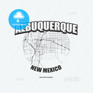 Albuquerque, New Mexico, logo artwork - HEBSTREITS