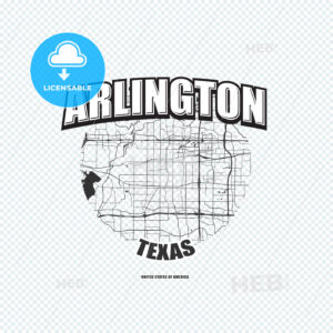 Arlington, Texas, logo artwork - HEBSTREITS
