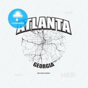 Atlanta, Georgia, logo artwork - HEBSTREITS