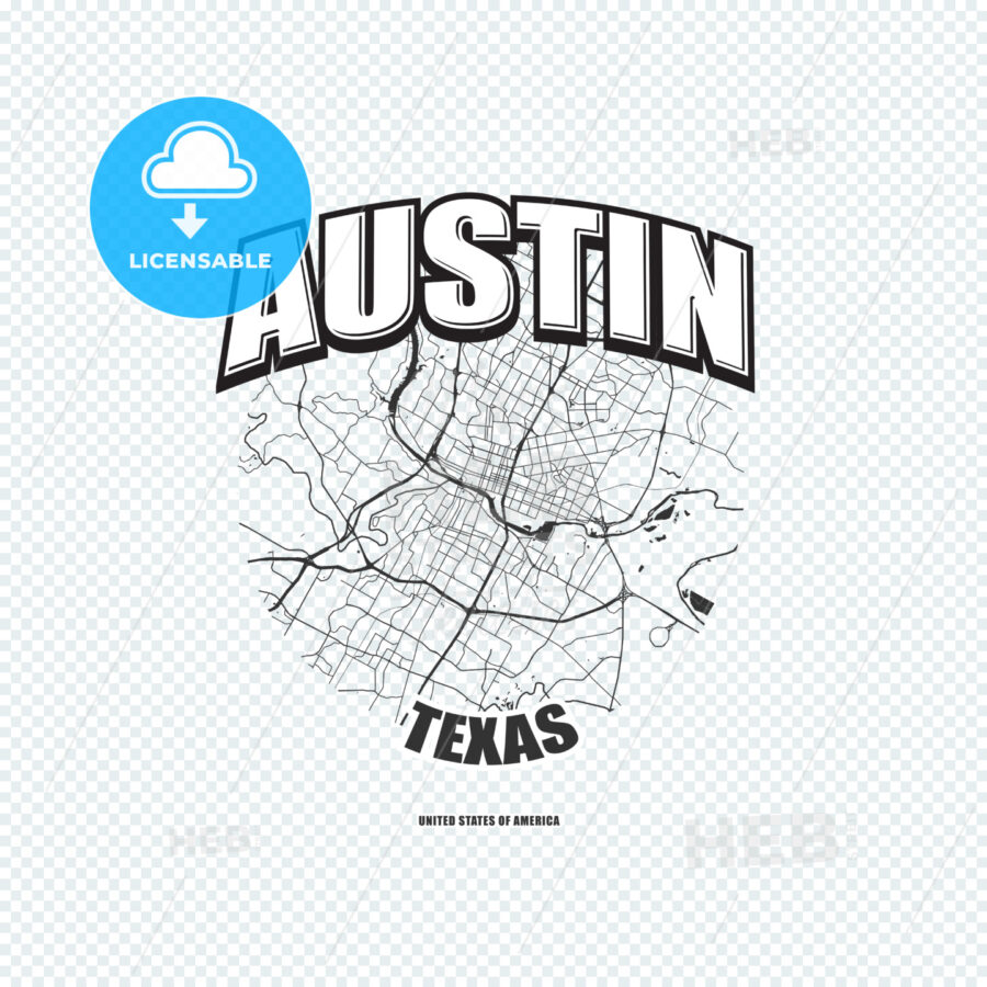 Austin, Texas, logo artwork - HEBSTREITS