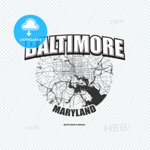 Baltimore, Maryland, logo artwork - HEBSTREITS