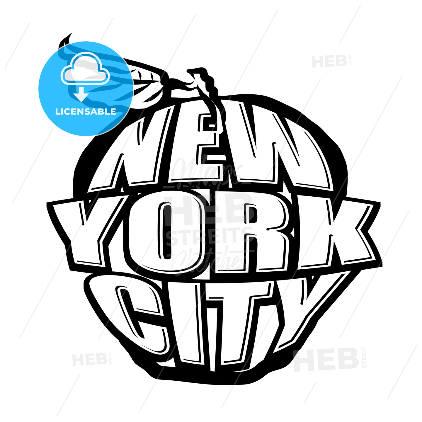 Big Apple NYC Logo - HEBSTREITS