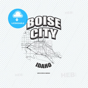 Boise, Idaho, logo artwork - HEBSTREITS