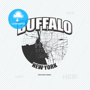 Buffalo, New York, logo artwork - HEBSTREITS