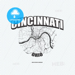 Cincinnati, Ohio, logo artwork - HEBSTREITS