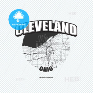 Cleveland, Ohio, logo artwork - HEBSTREITS
