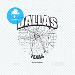 Dallas, Texas, logo artwork - HEBSTREITS