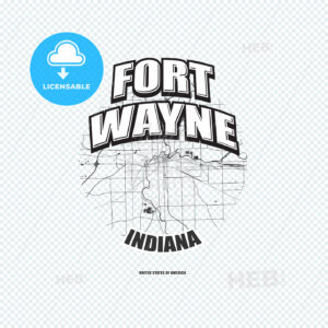Fort Wayne, Indiana, logo artwork - HEBSTREITS