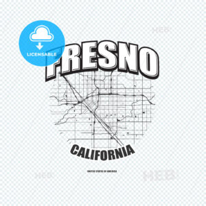Fresno, California, logo artwork - HEBSTREITS